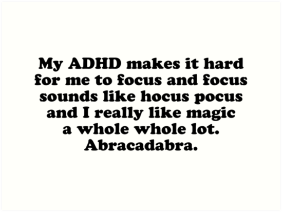 My ADHD makes it hard for me to focus Neo's Blog