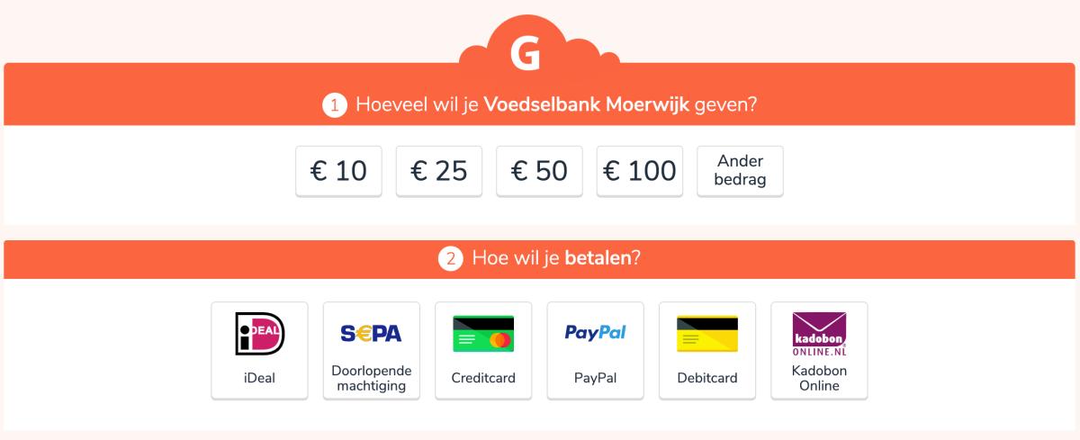 Geef en Doneer aan de Voedselbank inMoerwijk